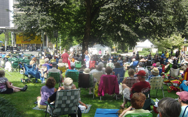 Morristown Jazz and Blues Festival Crowd